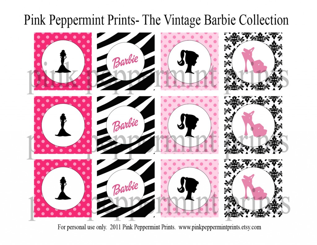Vintage Barbie Party Printables
